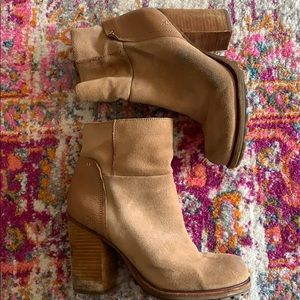 Distressed Sam Edelman Suede Booties